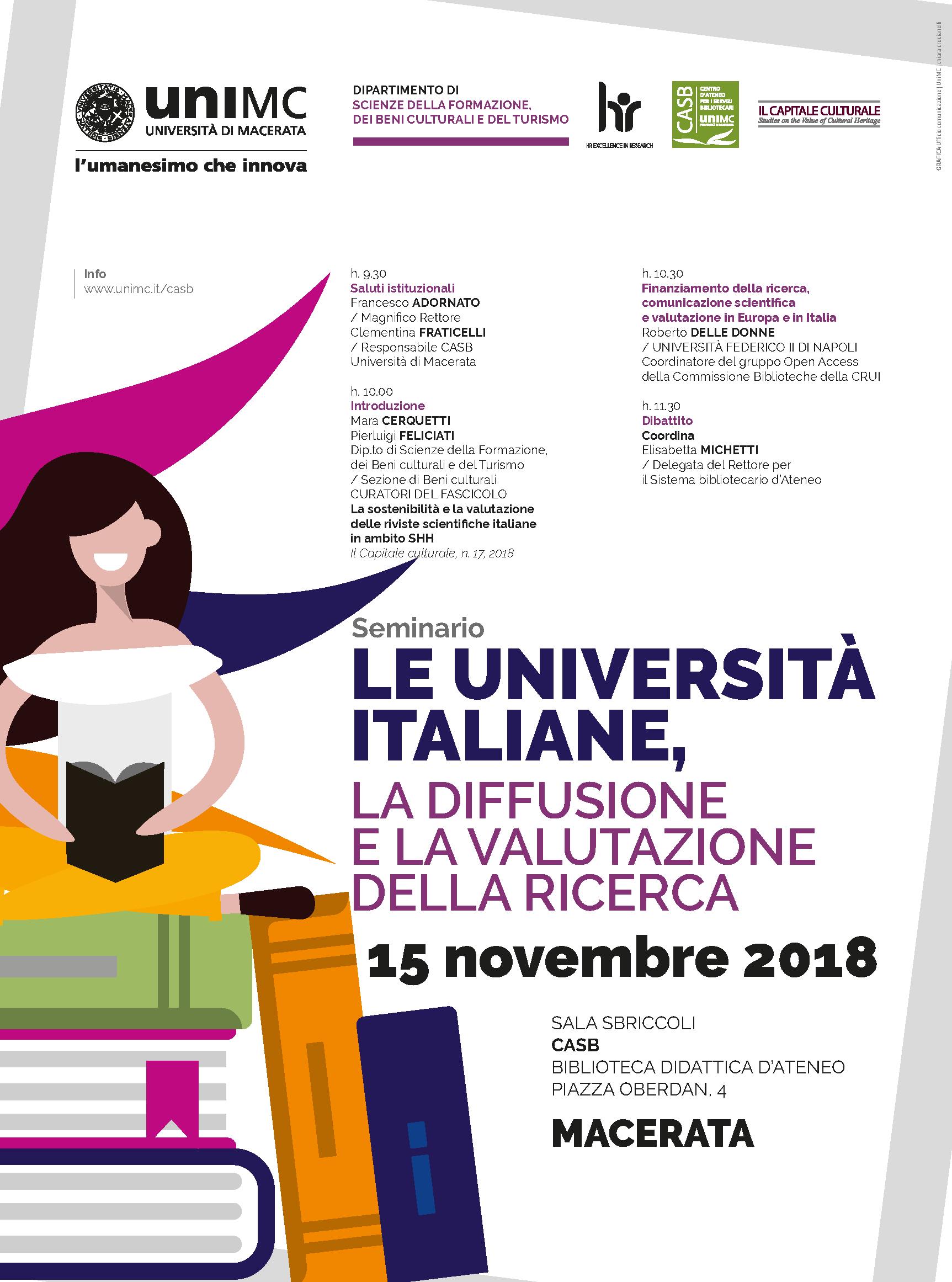Le università italiane, la diffusione e la valutazione della ricerca
