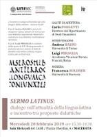 Locandina Sermo Latinus